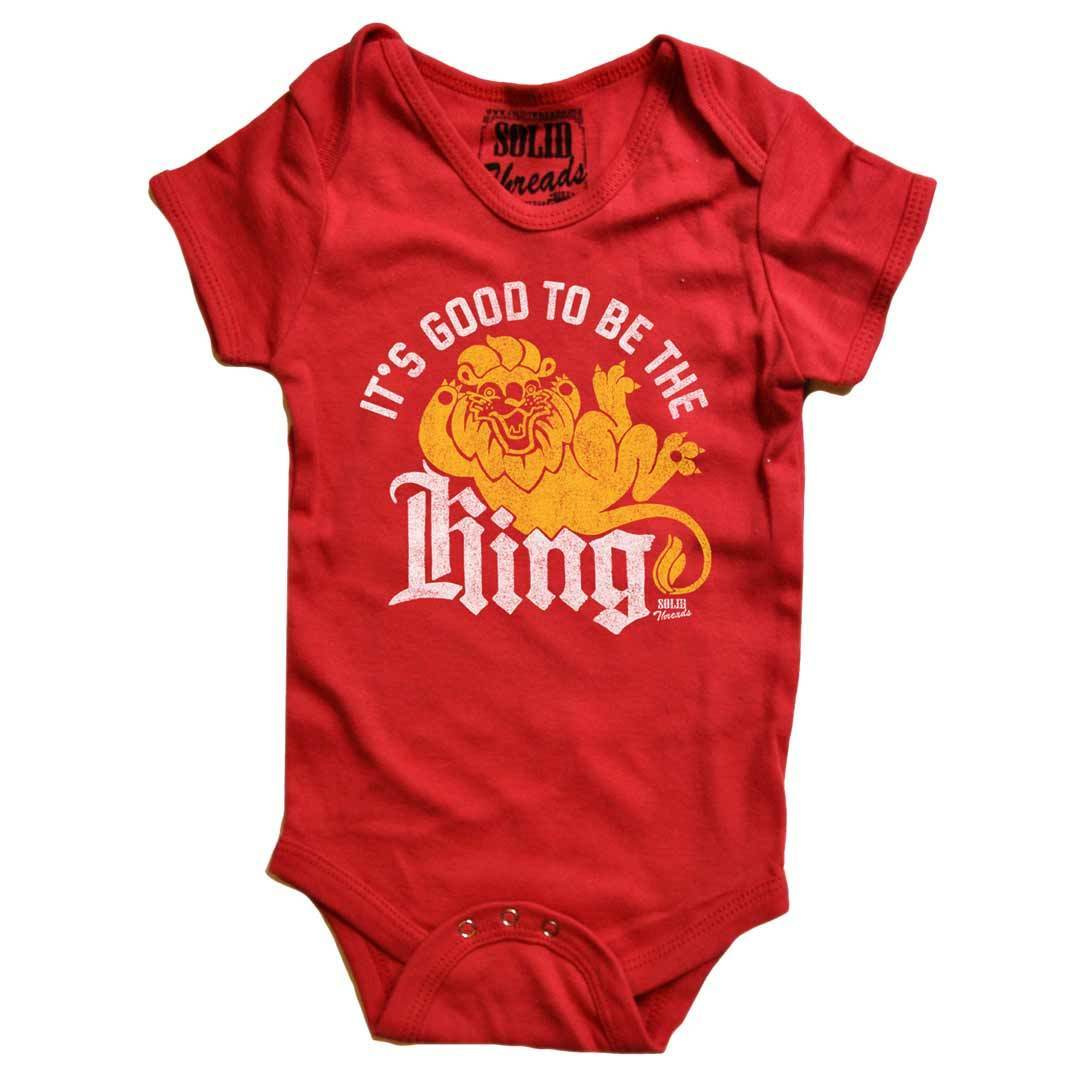 Baby It's Good To Be King Retro Onesie