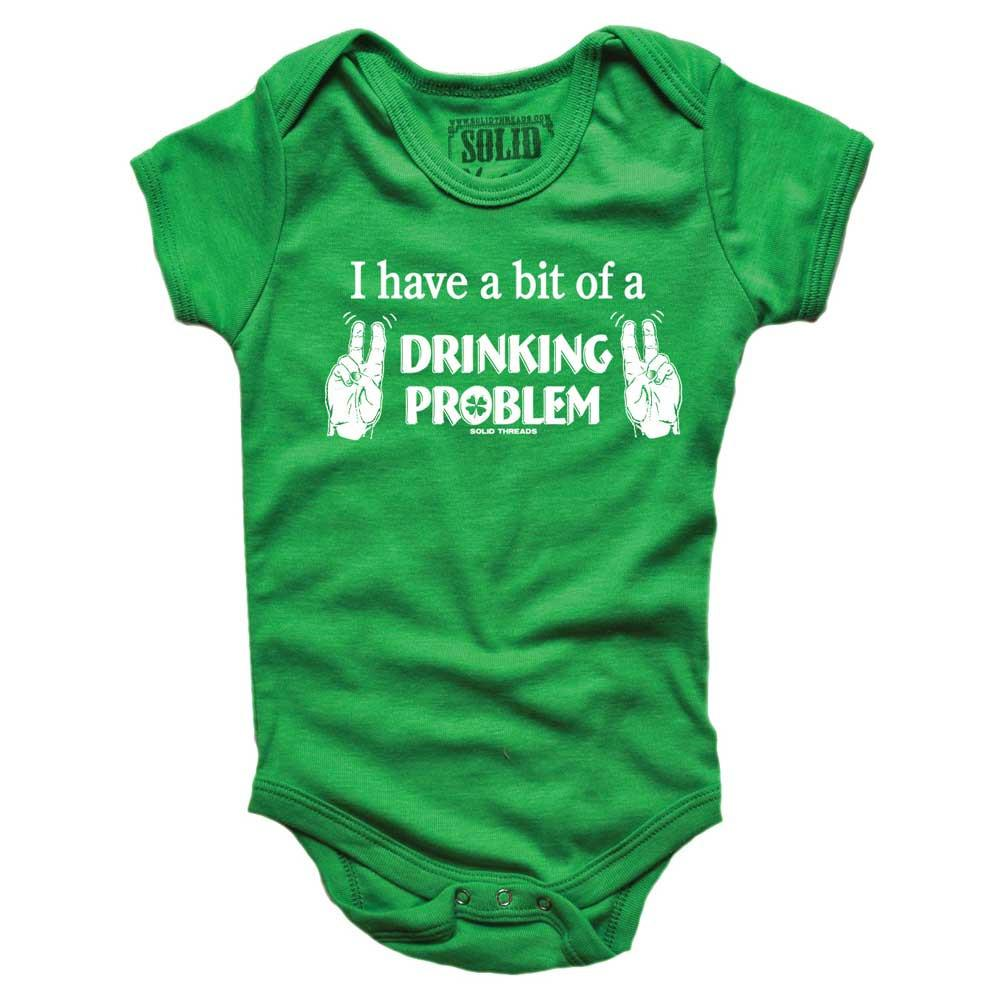 Baby I Have A Bit Drinking Problem Retro Onesie | SOLID THREADS
