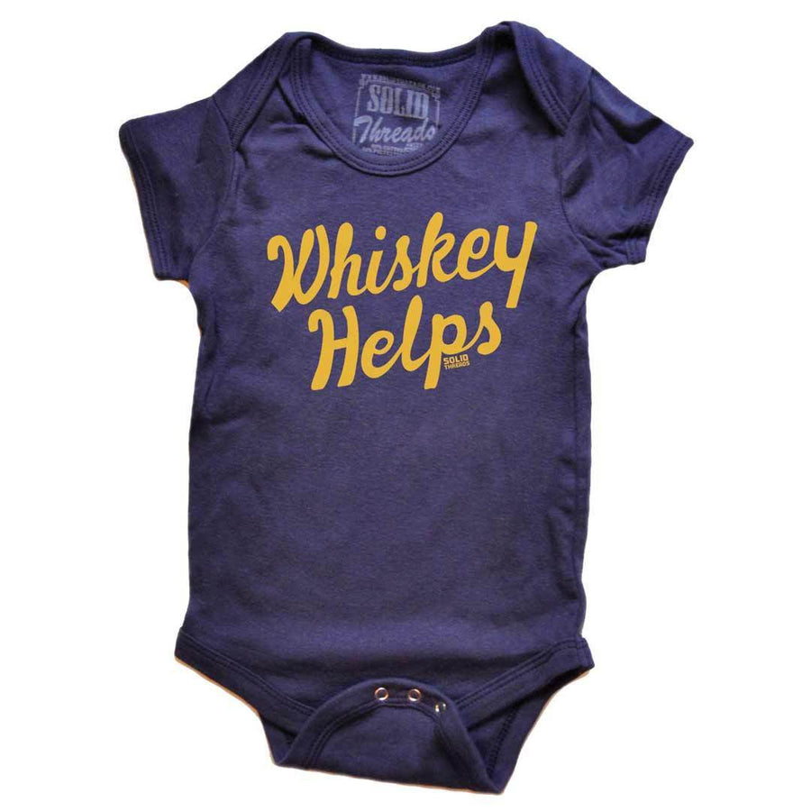Baby Whiskey Helps Retro Onesie | SOLID THREADS