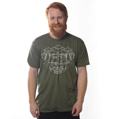 Camp Site Vintage Inspired Nature T-shirt on Model | SOLID THREADS