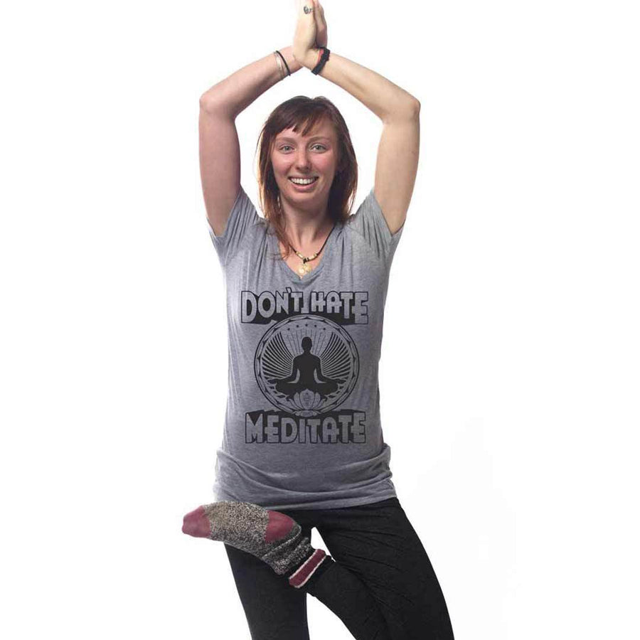Women's Don't Hate Meditate T-shirt