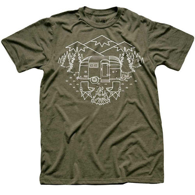 Camp Site Vintage Inspired Nature T-shirt | SOLID THREADS