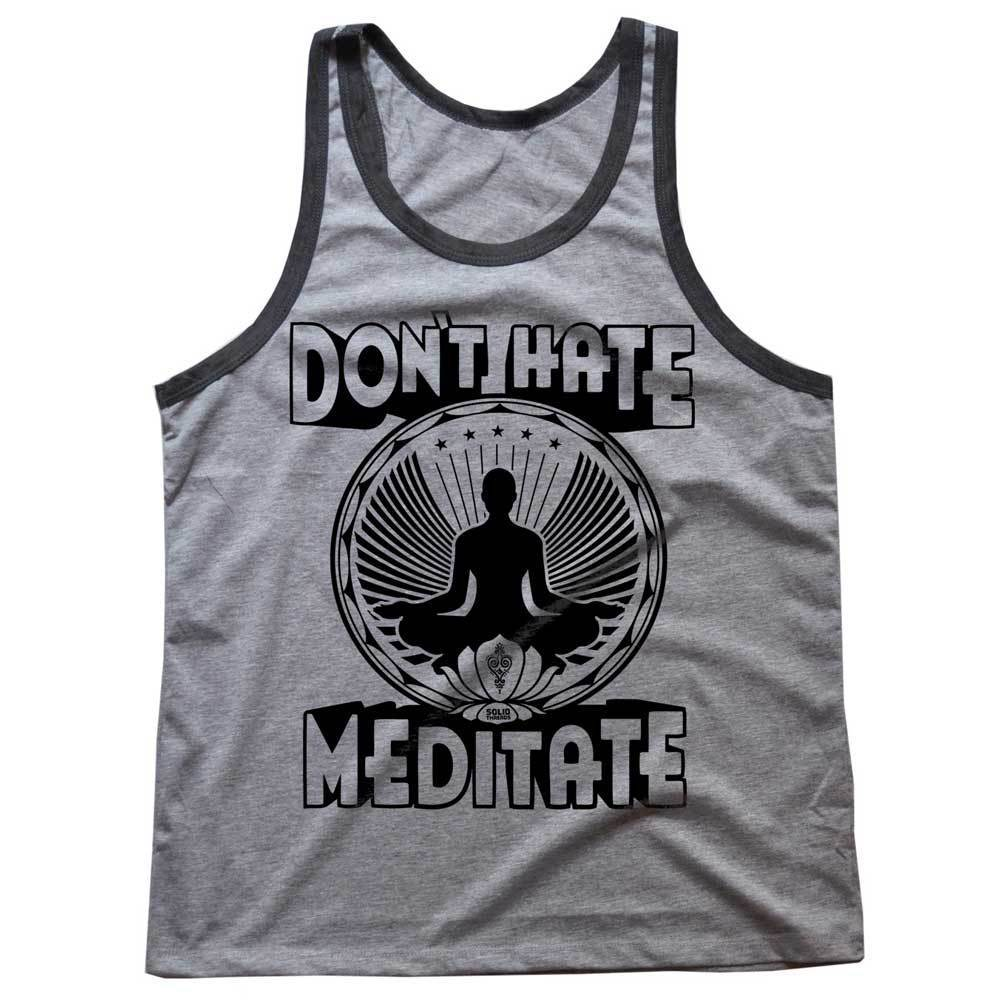 Don't Hate Meditate Vintage Inspired Tank Top | SOLID THREADS