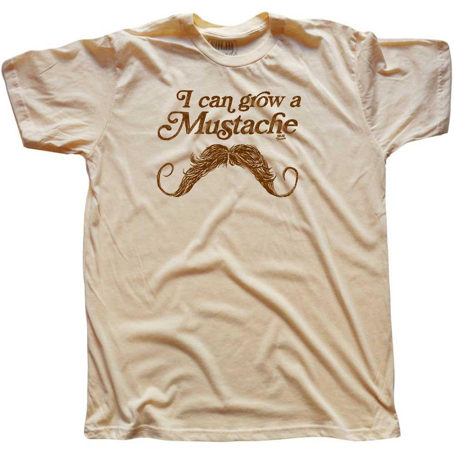 I Can Grow A Mustache Vintage T-shirt | SOLID THREADS