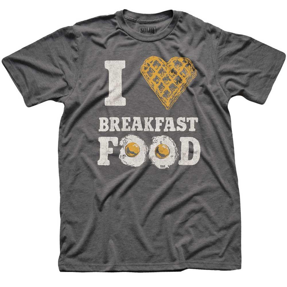 I Heart Breakfast Food Vintage T-shirt | SOLID THREADS