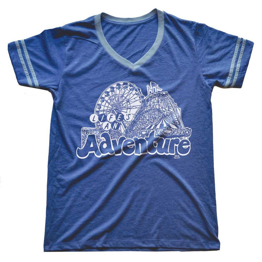 Life's An Adventure Vintage V-neck T-shirt | SOLID THREADS