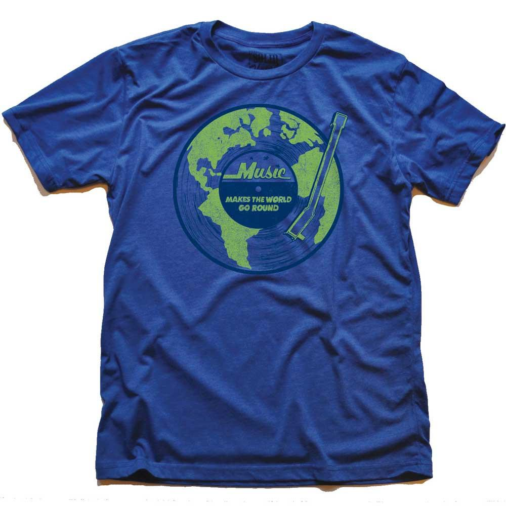 Music Makes The World Go Round Vintage T-shirt | SOLID THREADS