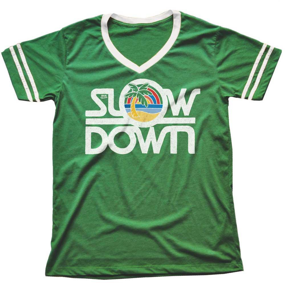 Slow Down Vintage V-neck T-shirt | SOLID THREADS
