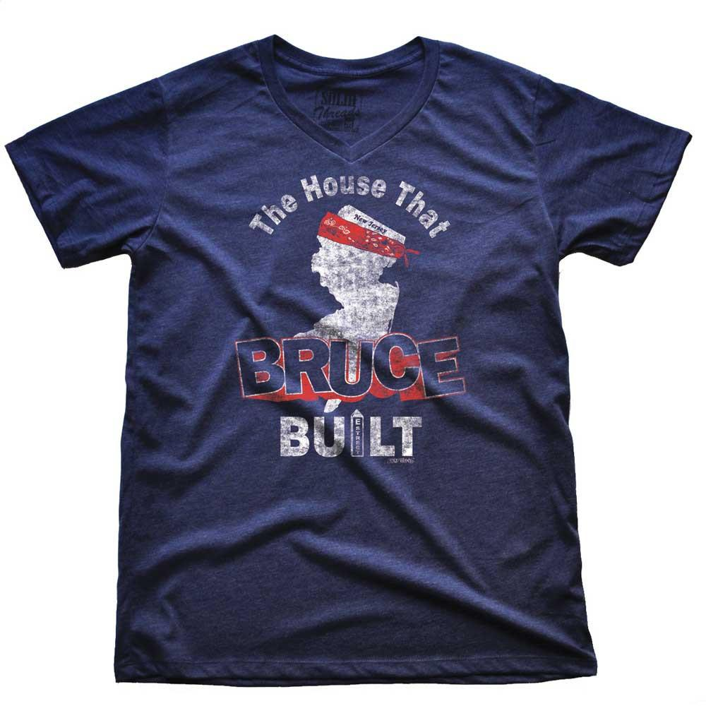 The House That Bruce Built Vintage V-neck T-shirt | SOLID THREADS
