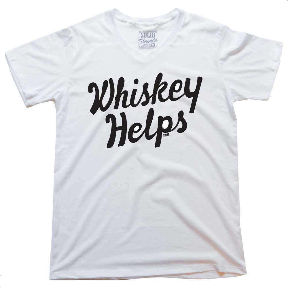 Whiskey Helps Vintage V-neck T-shirt | SOLID THREADS