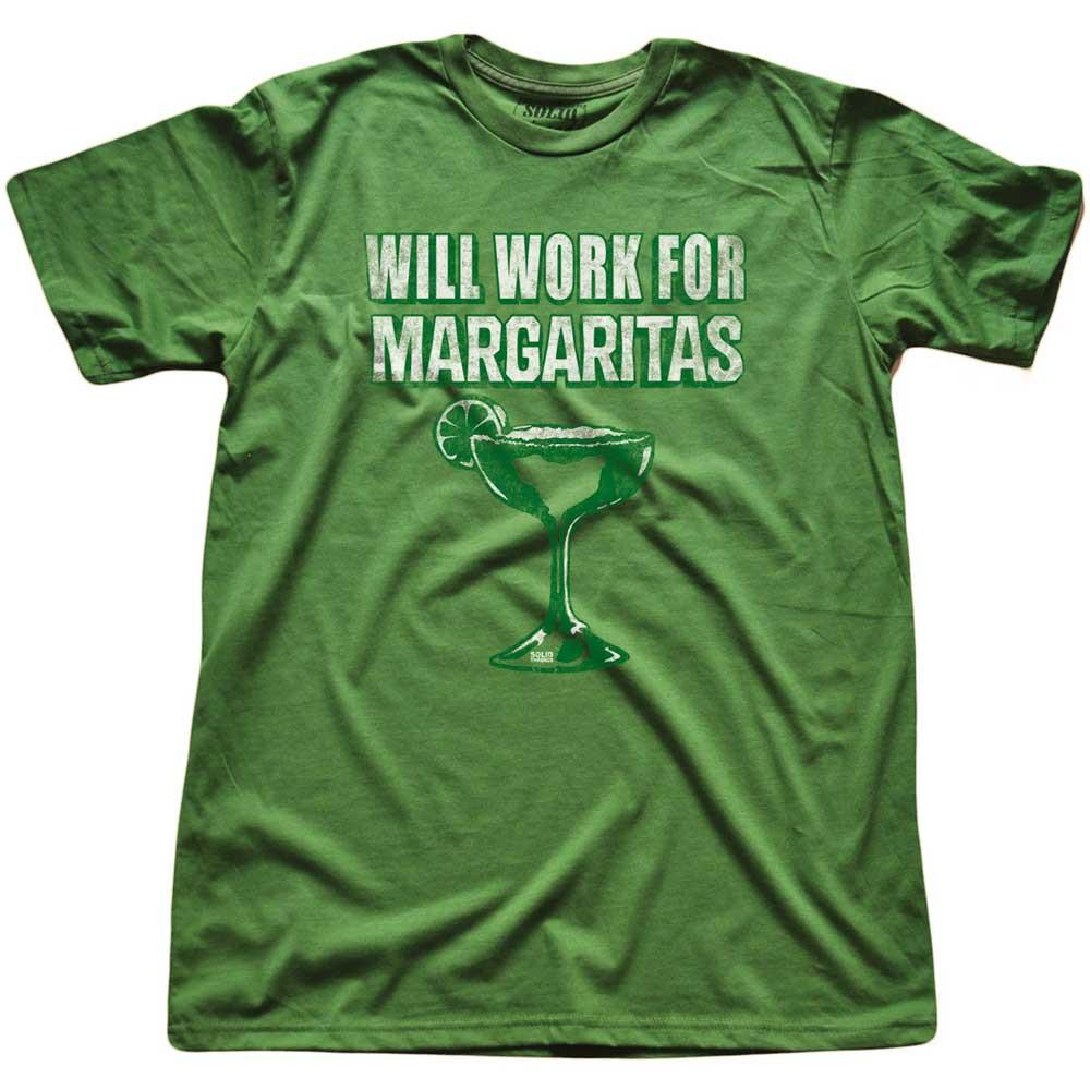 Will Work For Margaritas Vintage T-shirt | SOLID THREADS