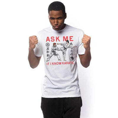 Ask Me If I Know Karatae Vintage Inspired T-shirt on Model | SOLID THREADS