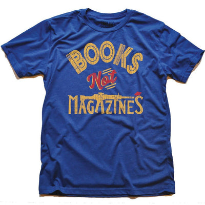 Books Not Magazines Retro Gun Reform T-Shirt