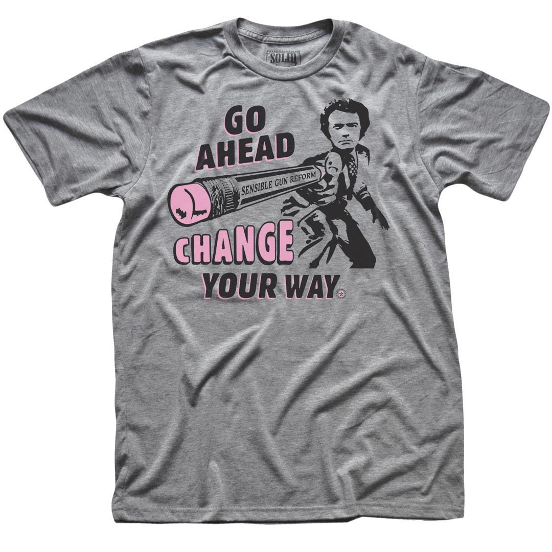 Go Ahead Change Your Way Retro Gun Reform T-Shirt | SOLID THREADS