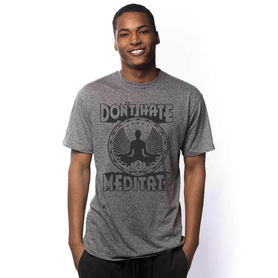 Don't Hate Meditate Vintage Inspired T-shirt on Model | SOLID THREADS