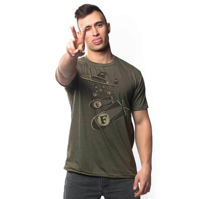 F-Bombs Vintage Inspired T-shirt on Model | SOLID THREADS