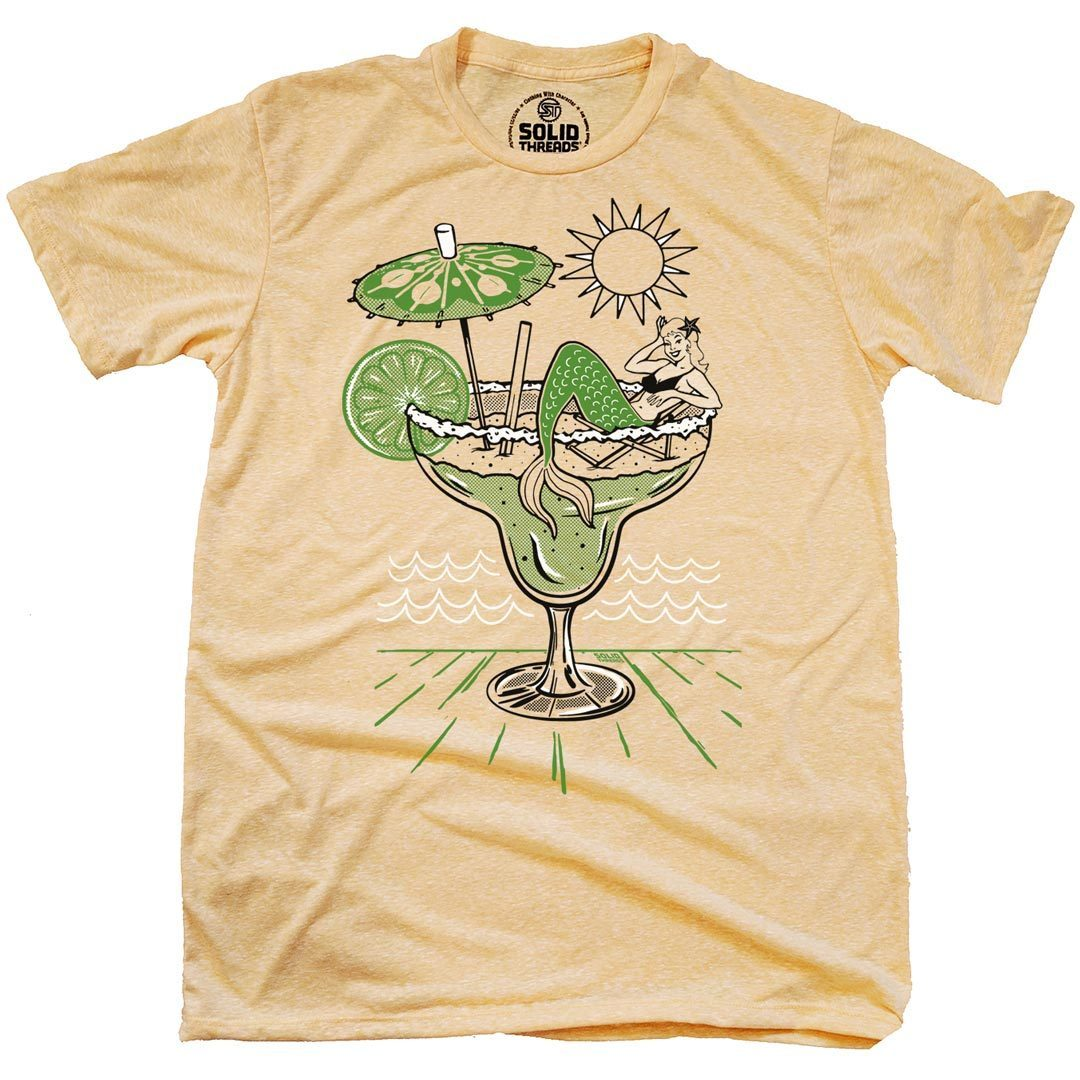 Margarita Mermaid Vintage Inspired T-Shirt | SOLID THREADS