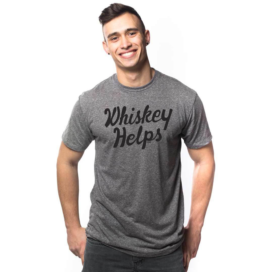 Whiskey Helps Vintage Inspired T-shirt | SOLID THREADS