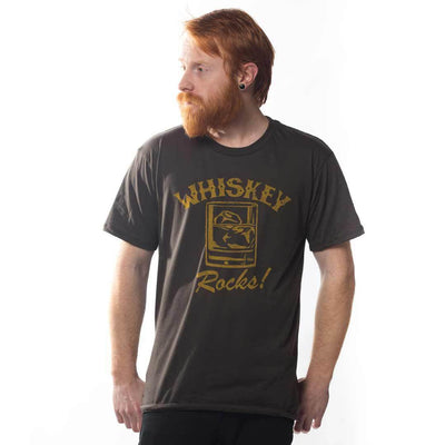 Whiskey Rocks Vintage Inspired T-shirt on Model | SOLID THREADS