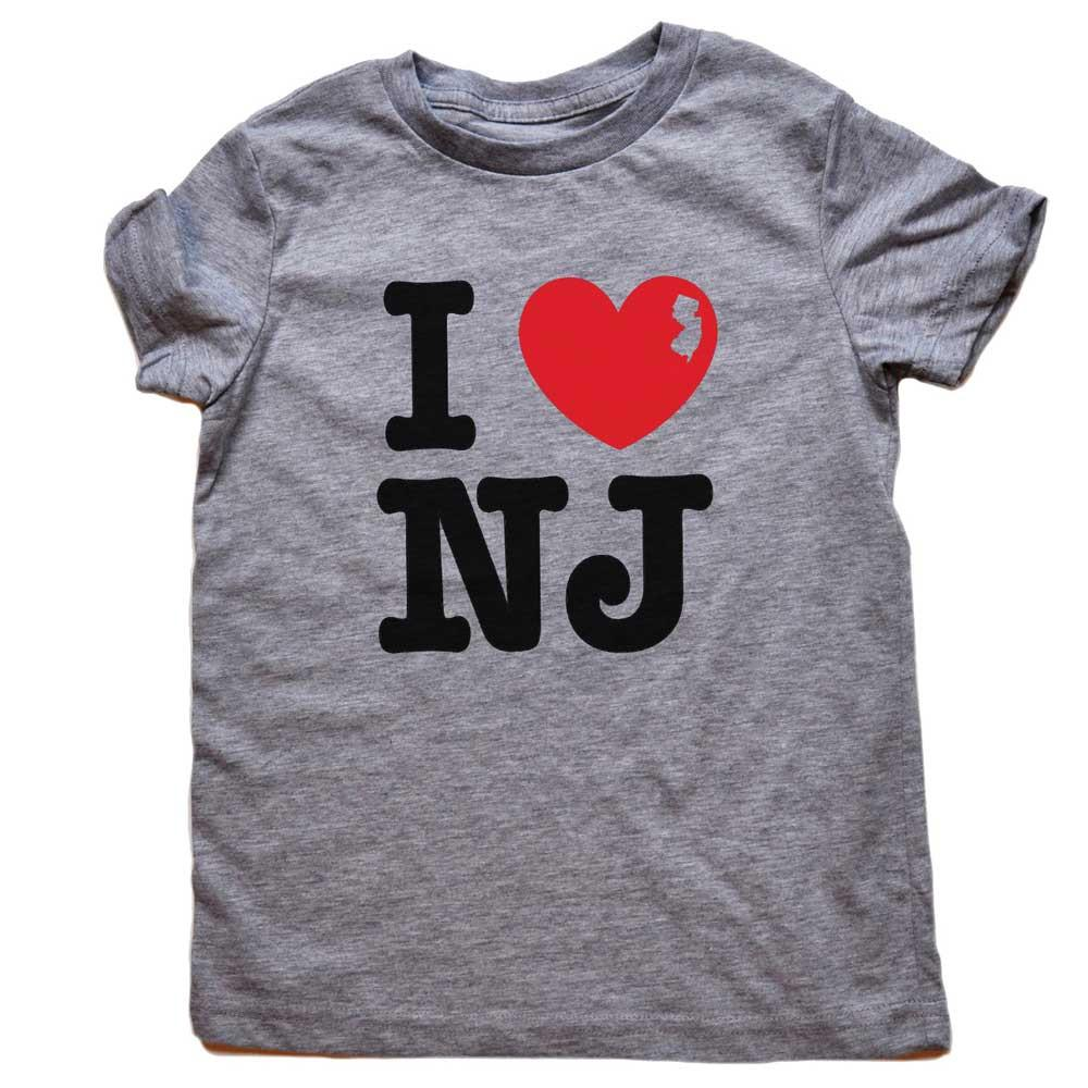 Toddler's I Heart NJ Retro Tee | SOLID THREADS