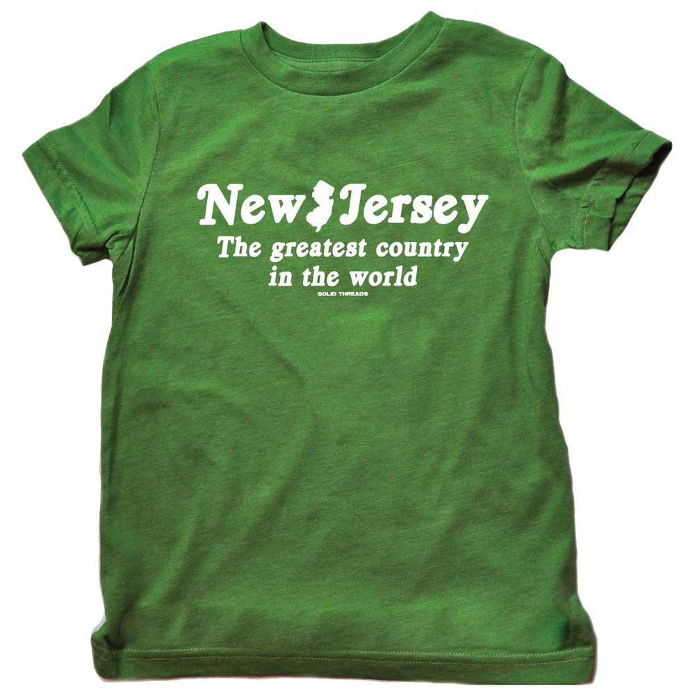 Toddler's New Jersey The Greatest Country In The World Retro Tee | SOLID THREADS