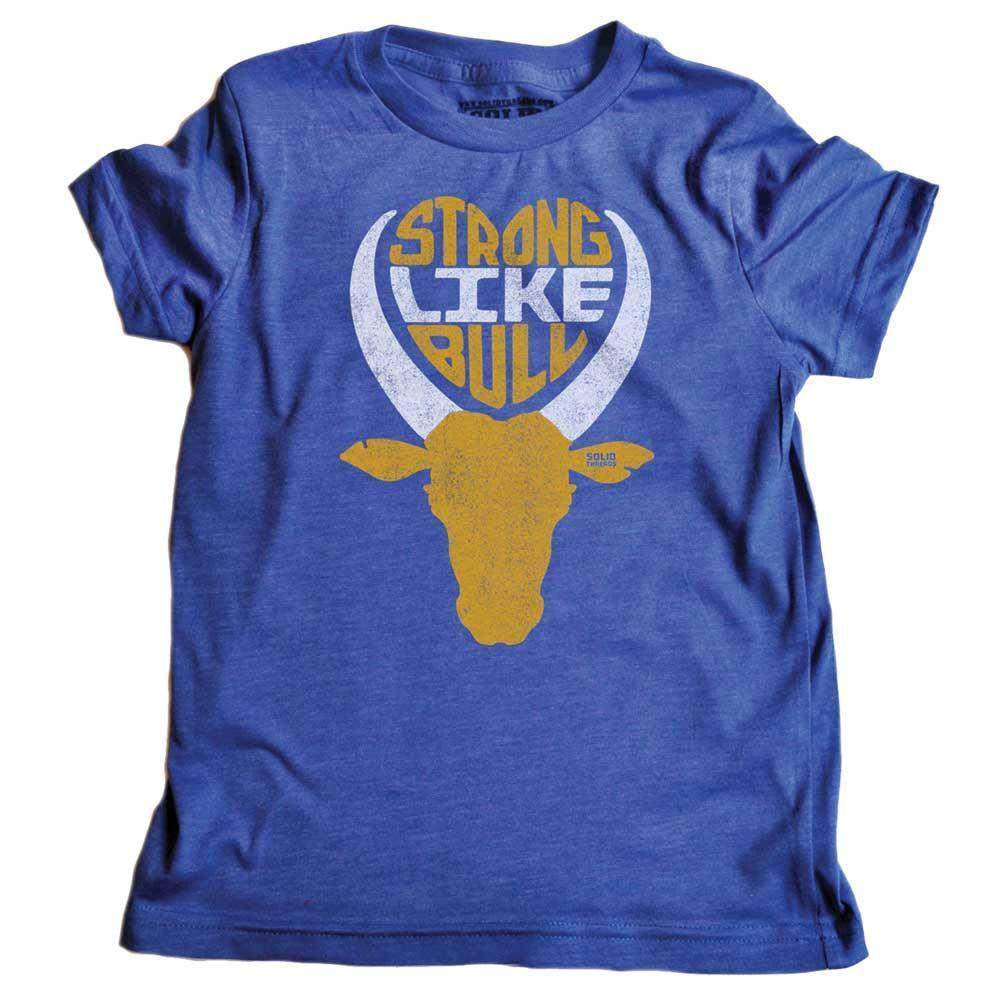 Toddler's Strong Like Bull Retro Tee | SOLID THREADS