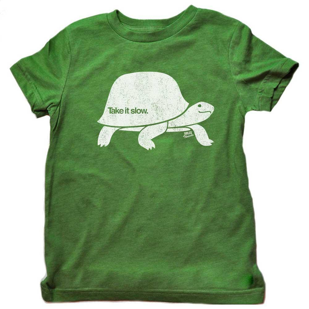 Toddler's Take It Slow Retro Tee | SOLID THREADS