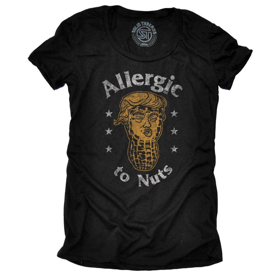 Women's Allergic to Nuts Vintage Inspired Politics T-shirt | SOLID THREADS
