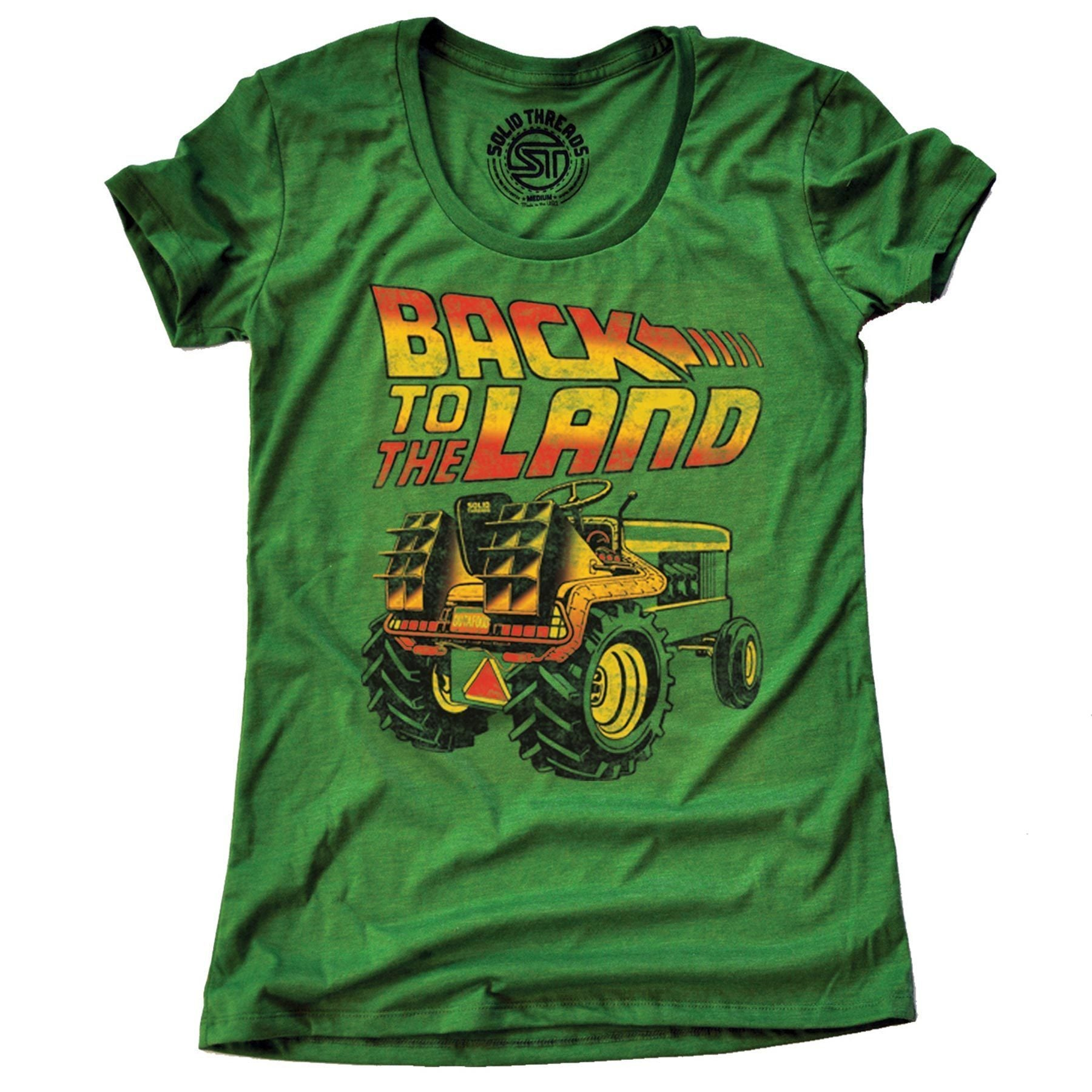 Women's Back To The Land Vintage Inspired T-shirt | SOLID THREADS