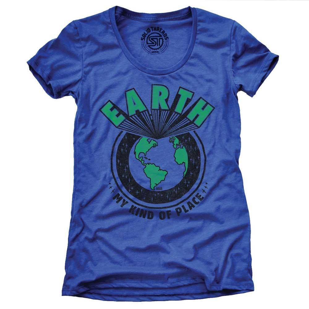 Women's Earth My Kind Of Place Vintage Inspired T-shirt | SOLID THREADS