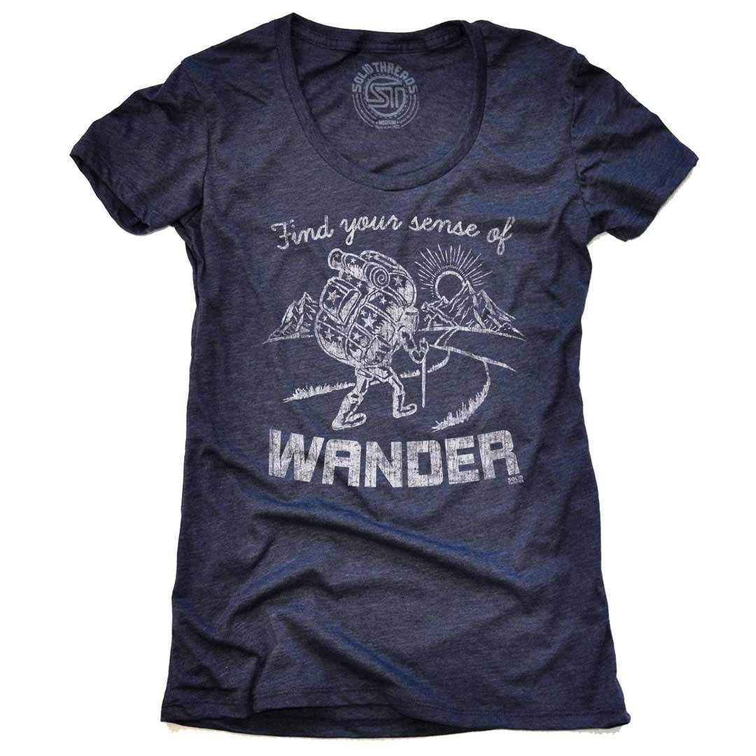 Women's Find Your Sense Of Wander Vintage Inspired T-shirt | SOLID THREADS