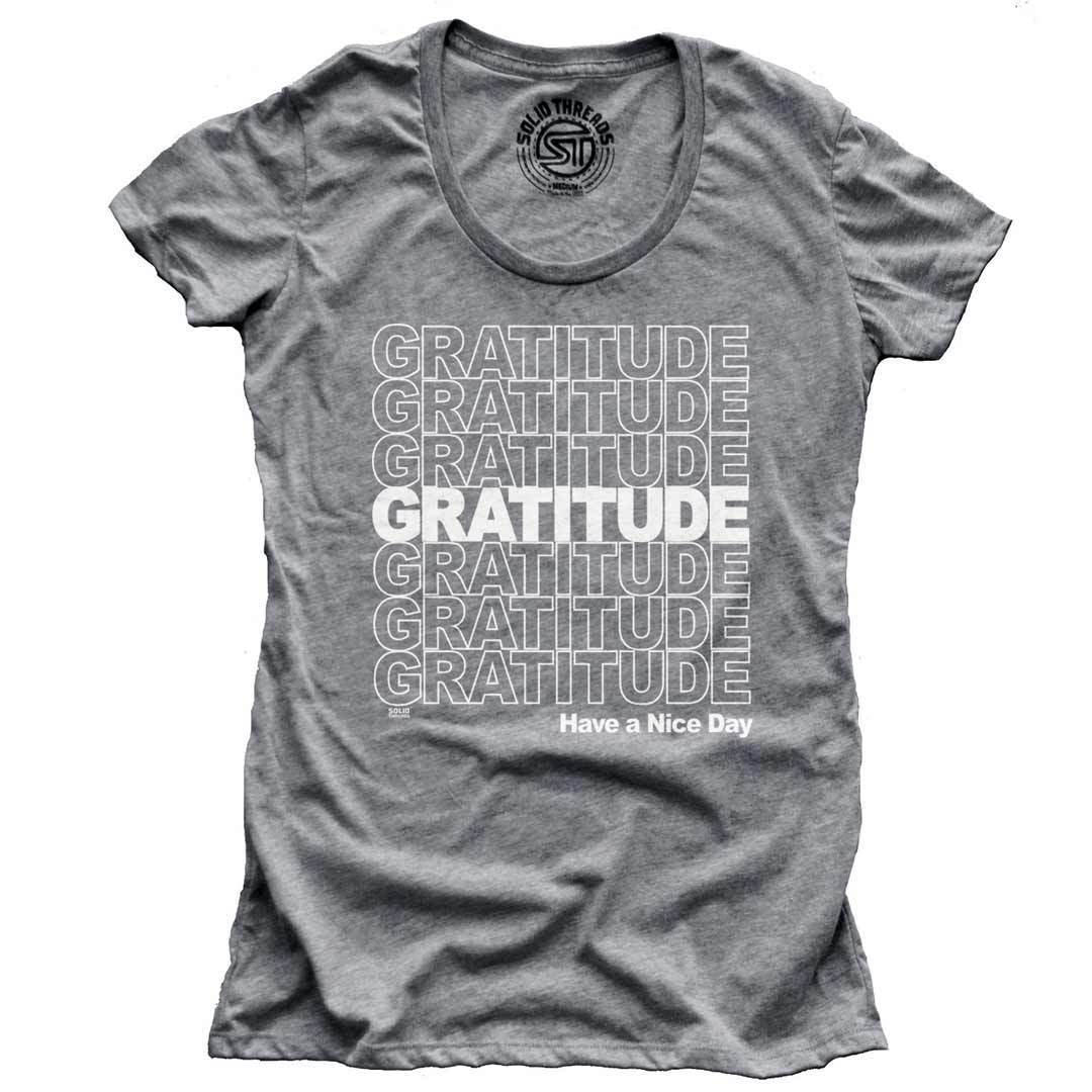 Women's Gratitude Vintage Inspired T-shirt | SOLID THREADS