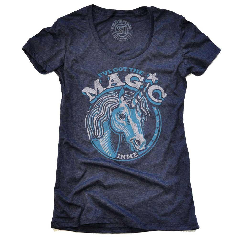 Women's Magic Unicorn Vintage Inspired T-shirt | SOLID THREADS