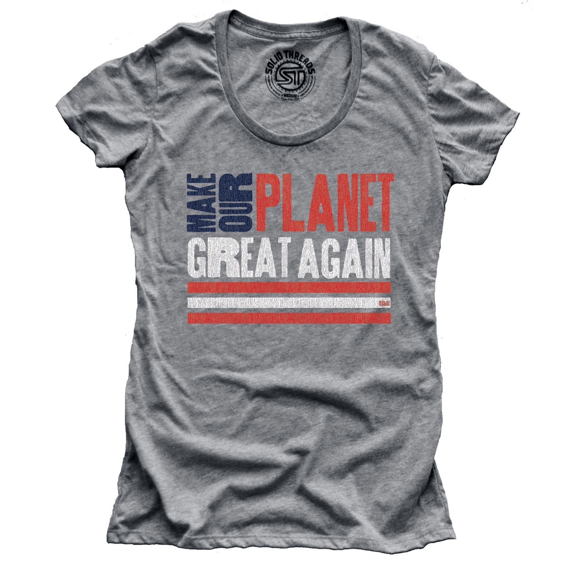 Women's Make Our Planet Great Again Vintage T-shirt | SOLID THREADS