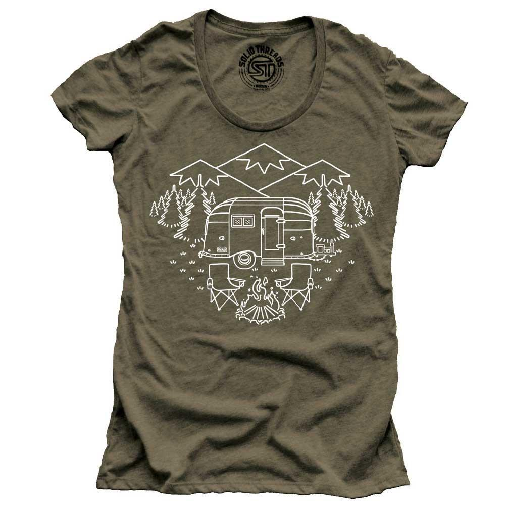 Women's Camp Site Vintage Inspired Nature T-shirt | SOLID THREADS