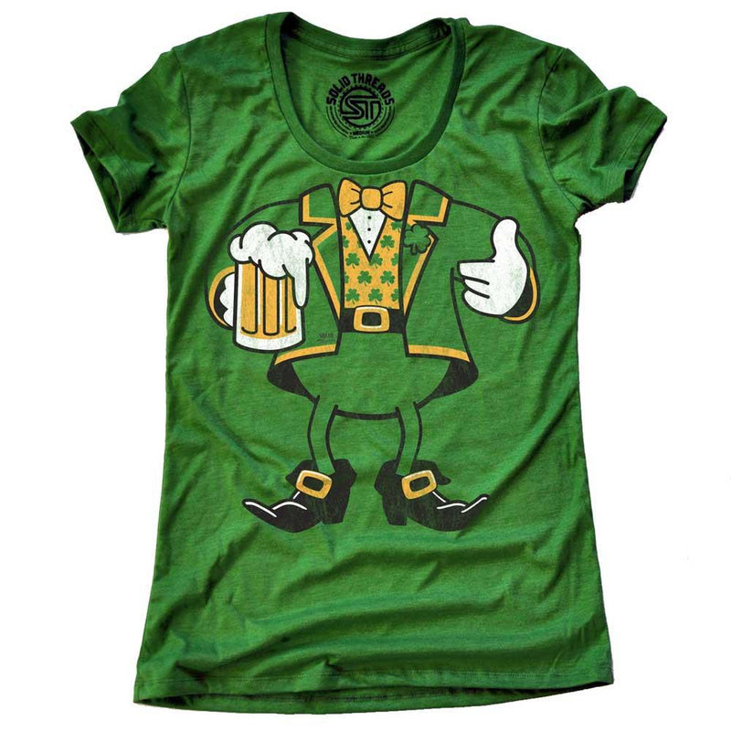 Women's Leprechaun Look-A-Like Vintage T-shirt | SOLID THREADS