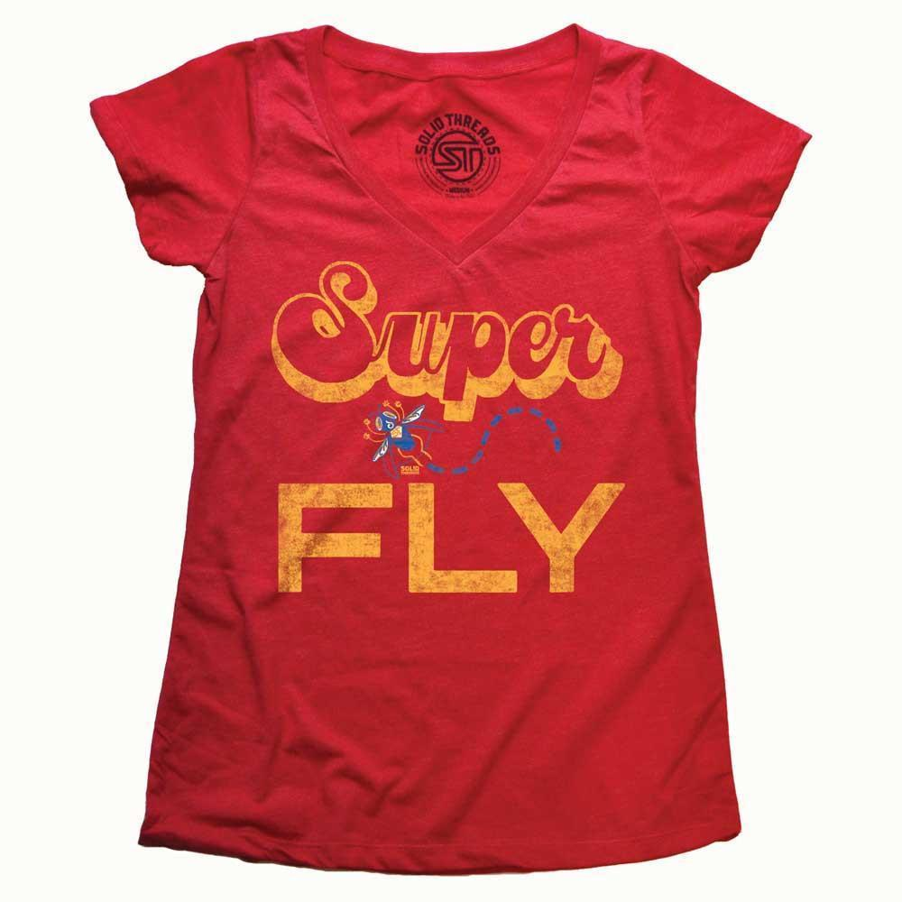 Women's Superfly Vintage V-neck T-shirt | SOLID THREADS