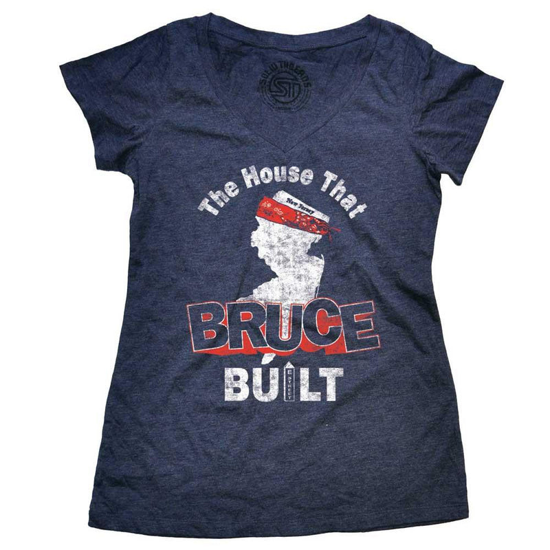 Women's The House That Bruce Built Vintage V-neck T-shirt | SOLID THREADS
