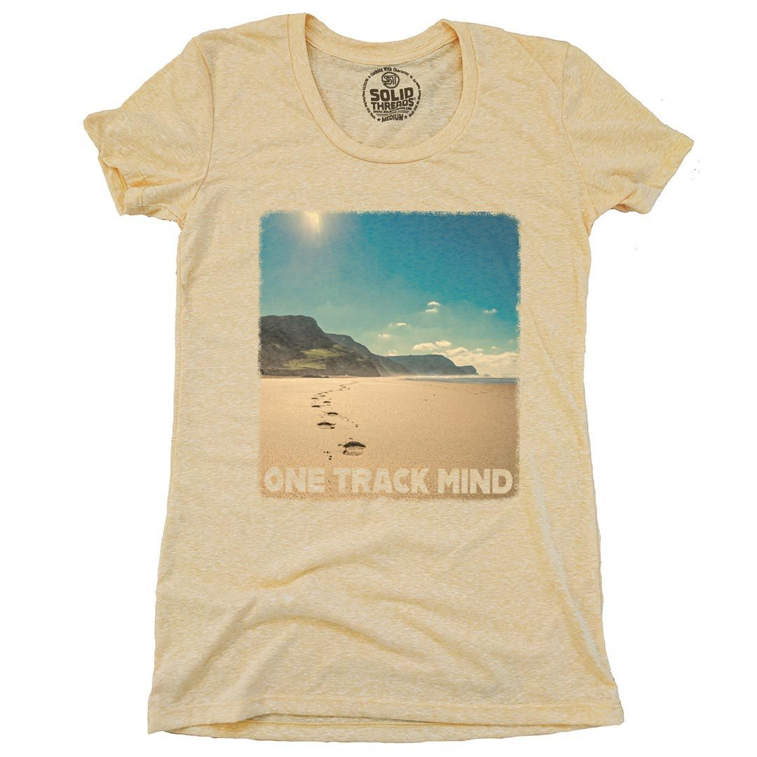 Women's Beach Track Vintage Inspired T-Shirt | SOLID THREADS