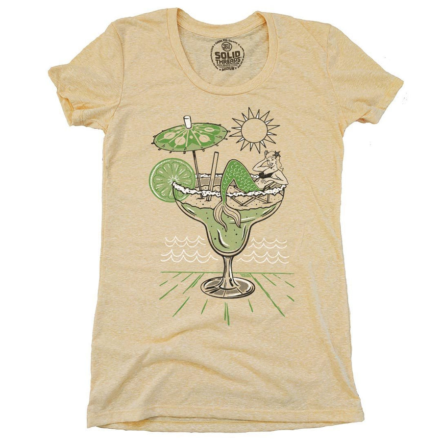 Women's Margarita Mermaid Vintage Inspired T-Shirt | SOLID THREADS