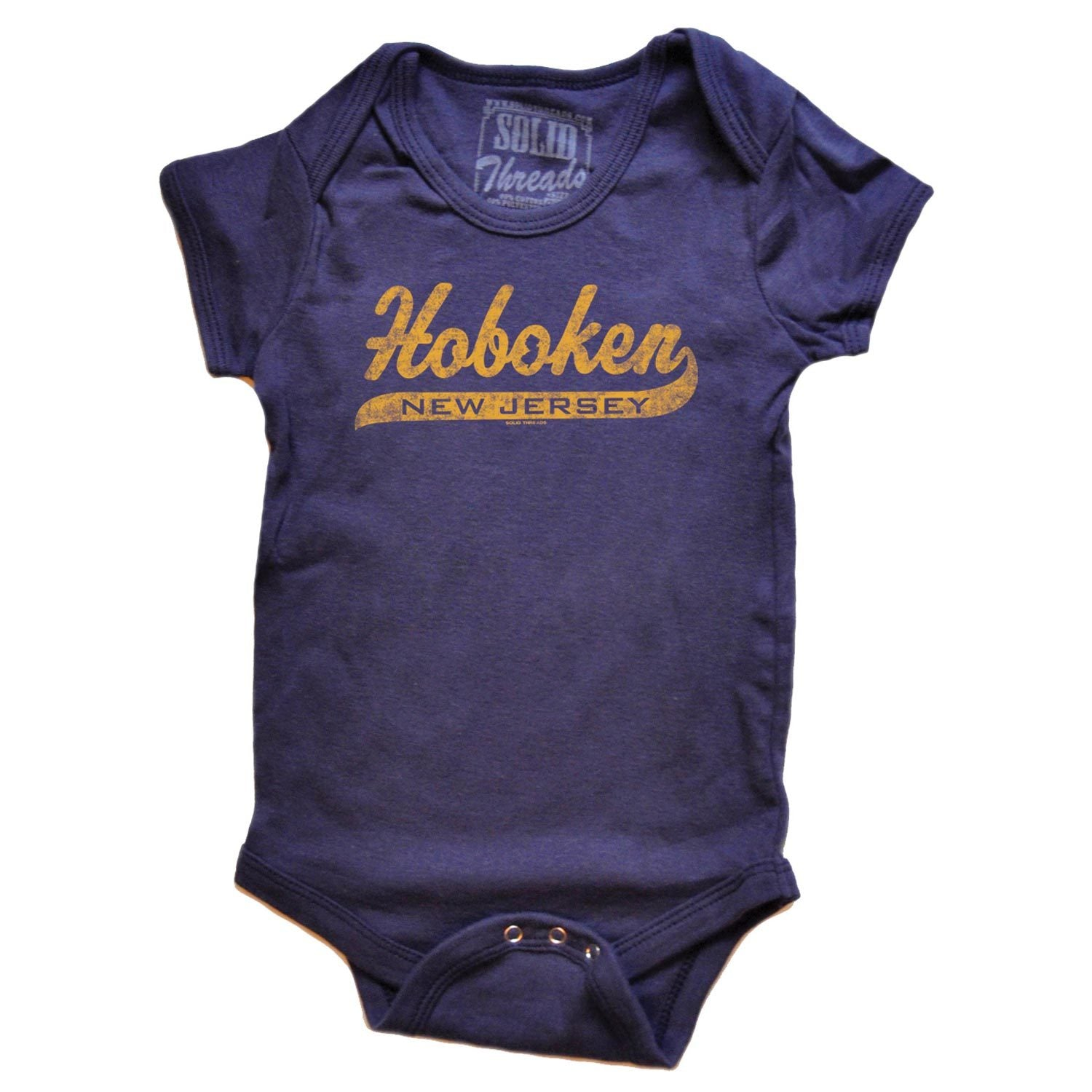 Retro Baby Hoboken Script Romper | SOLID THREADS