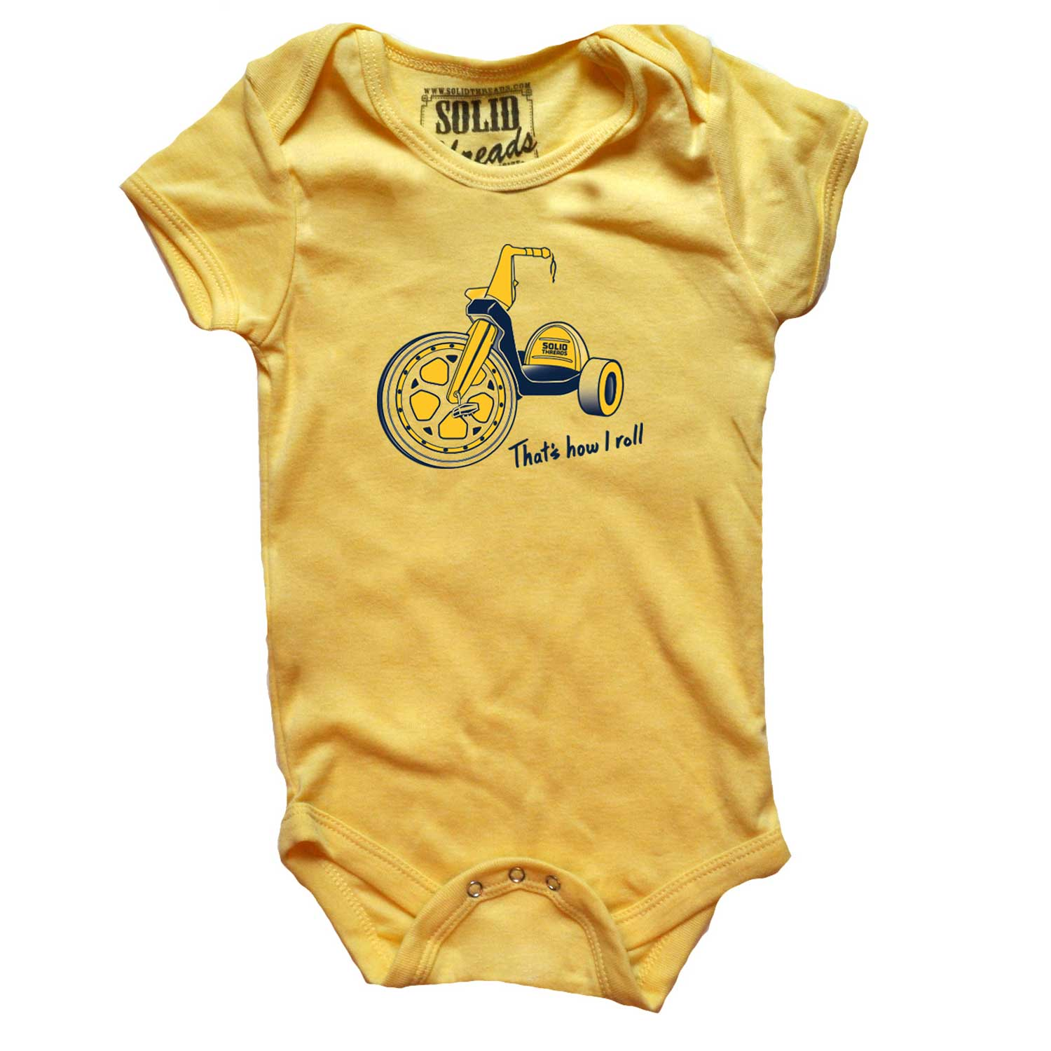 Baby That's How I Roll Retro Onesie | SOLID THREADS
