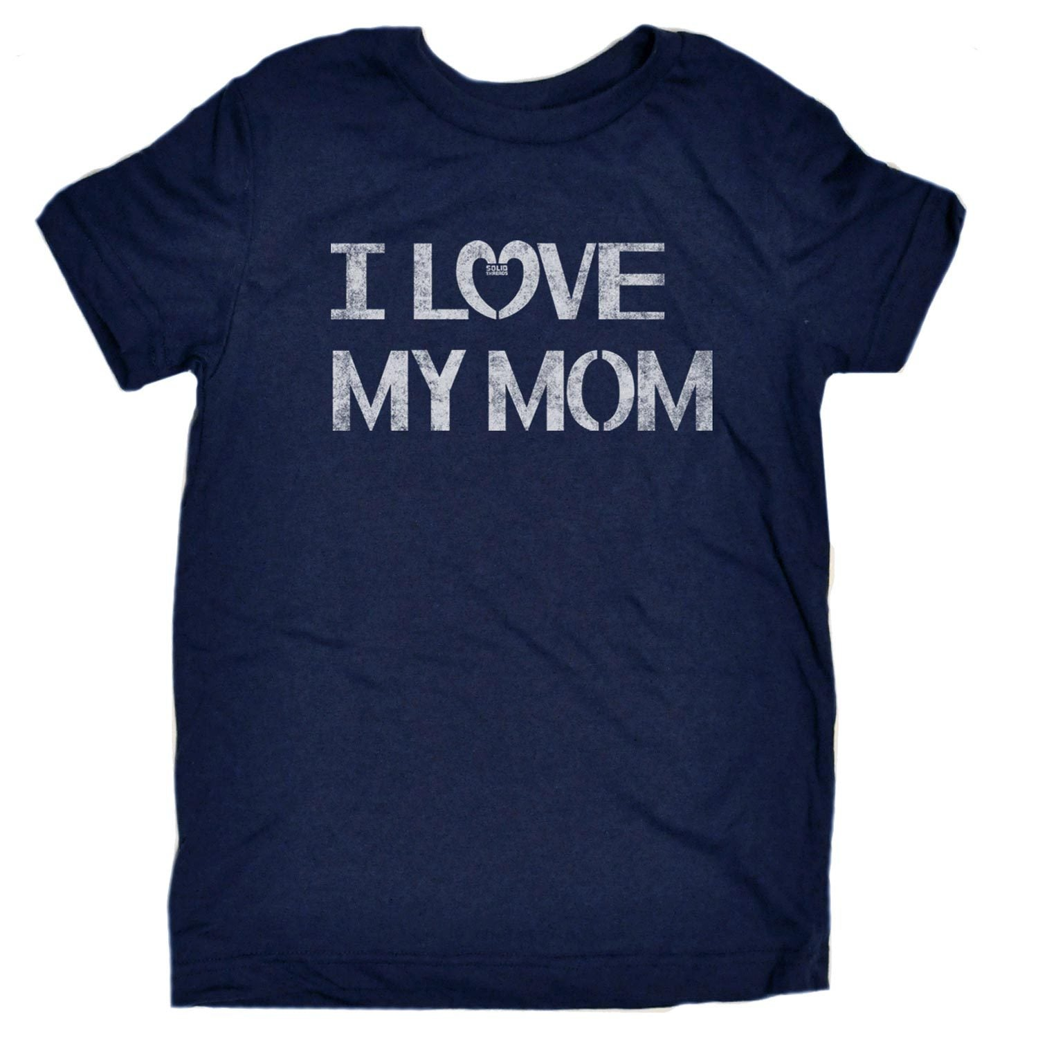 Toddler's I Love My Mom Vintage Inspired T-shirt | Retro Loving Family Graphic Tee | Solid Threads
