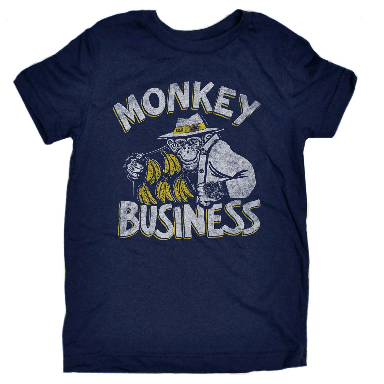 Toddler's Monkey Business Vintage Inspired T-shirt | Funny Animal Graphic Tee | Solid Threads