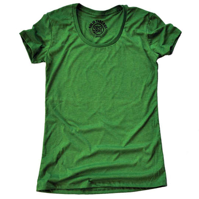 Women's Solid Threads Scoopneck Kelly T-shirt