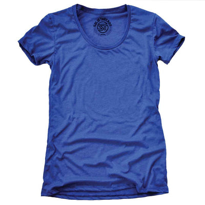 Women's Solid Threads Scoopneck Royal T-shirt