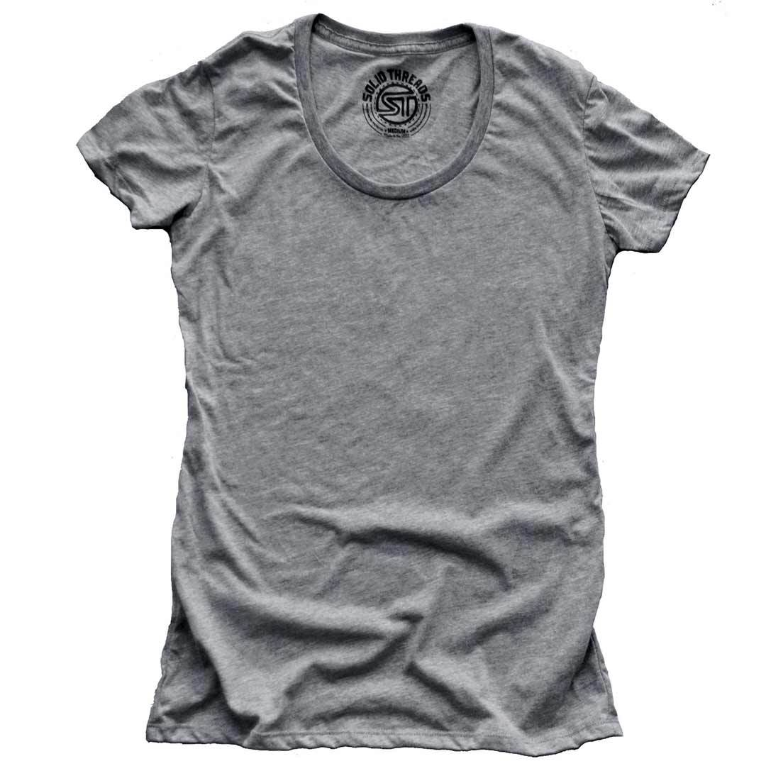 Women's Solid Threads Triblend Grey T-shirt