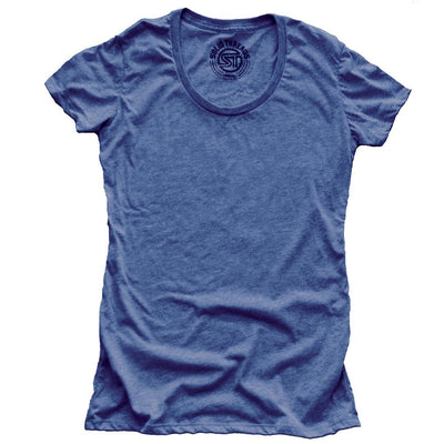 Women's Solid Threads Triblend Royal T-shirt