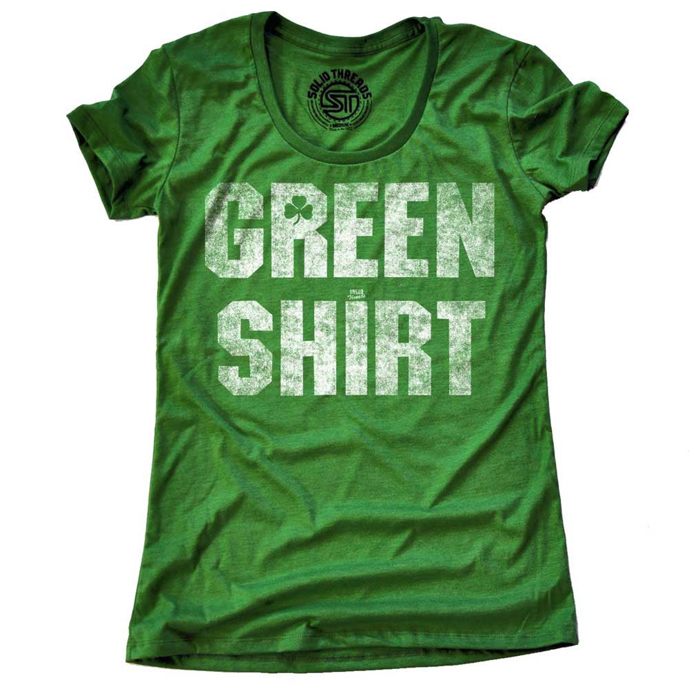 Women's Green Shirt Vintage T-Shirt | SOLID THREADS