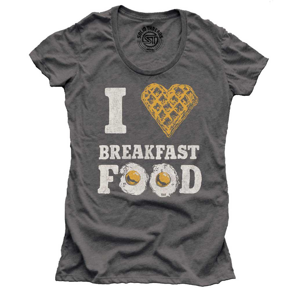 Women's I Heart Breakfast Food Vintage T-shirt | SOLID THREADS